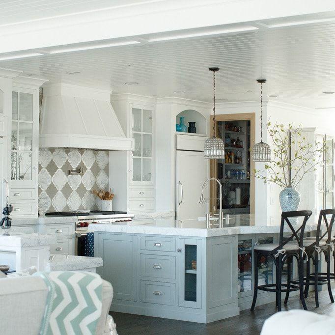 25 ideas para desayunar con estilo americano kitchens - Cocinas tradicionales blancas ...