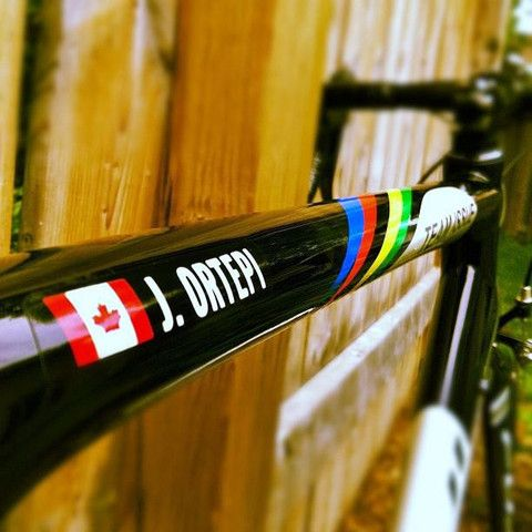 Veloink custom bicycle decals with your name and flag 18