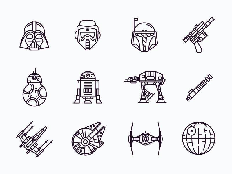 Star Wars Icons Star Wars Icons Star Wars Tattoo Icon Tattoo