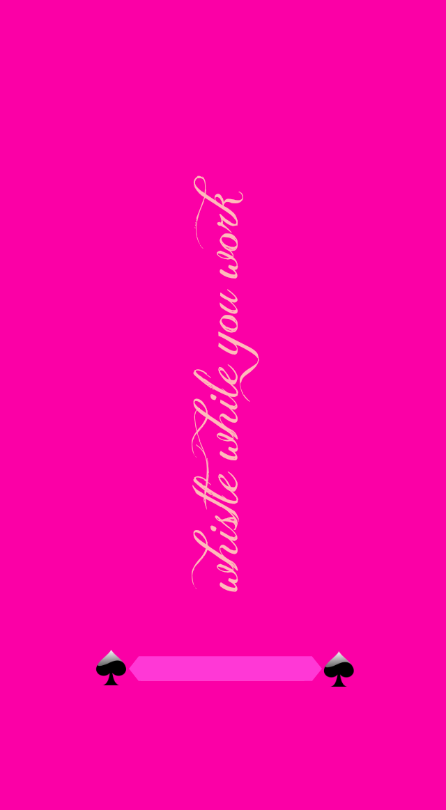 Gorgeous Hot Pink Whistle While You Work Wallpaper Lockscreen