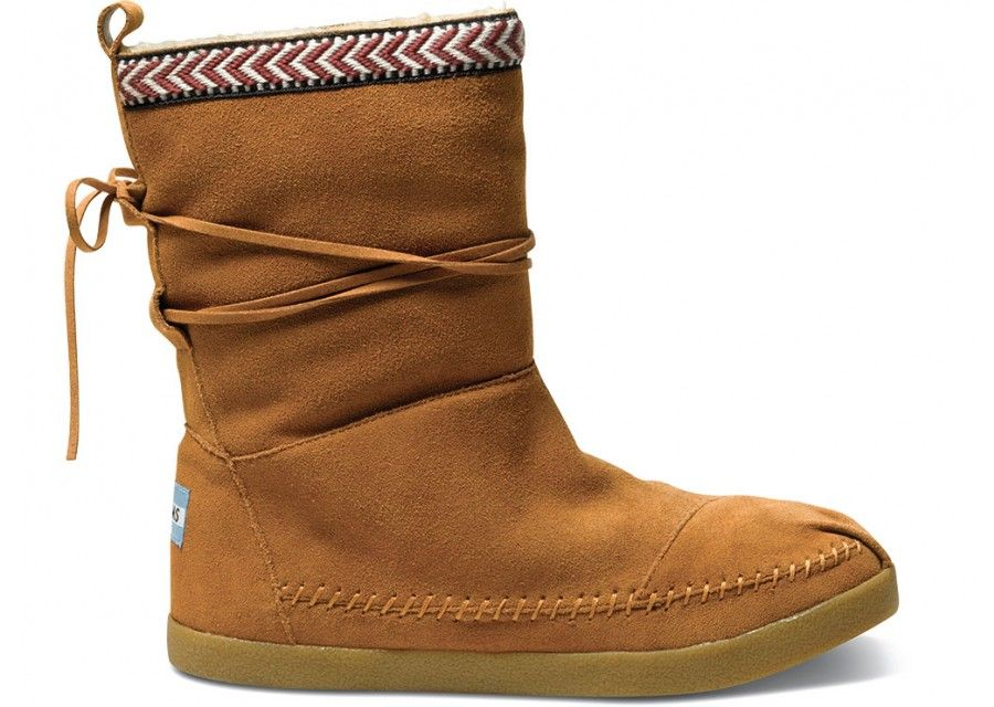 2b971df86b4e7 TOMS Chestnut Suede Trim Nepal Boots | Never Stop Traveling ...