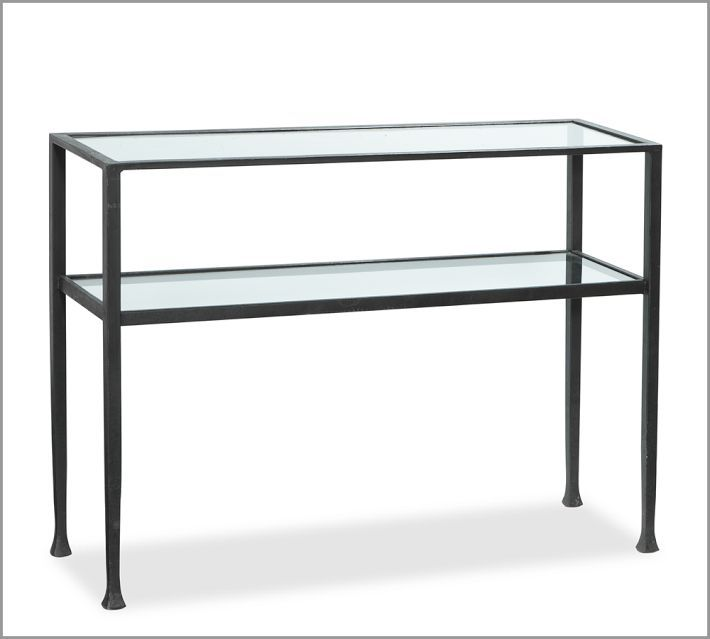 Pottery Barn Tanner Media Console Metal Console Table Iron