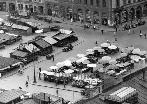 Viktualienmarkt 1930 Fotocommunity Timeline Images Munchen Bilder Historische Bilder