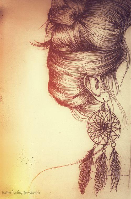 Beautiful Art And Paintings Drawing Art Hair Girl Jewelry