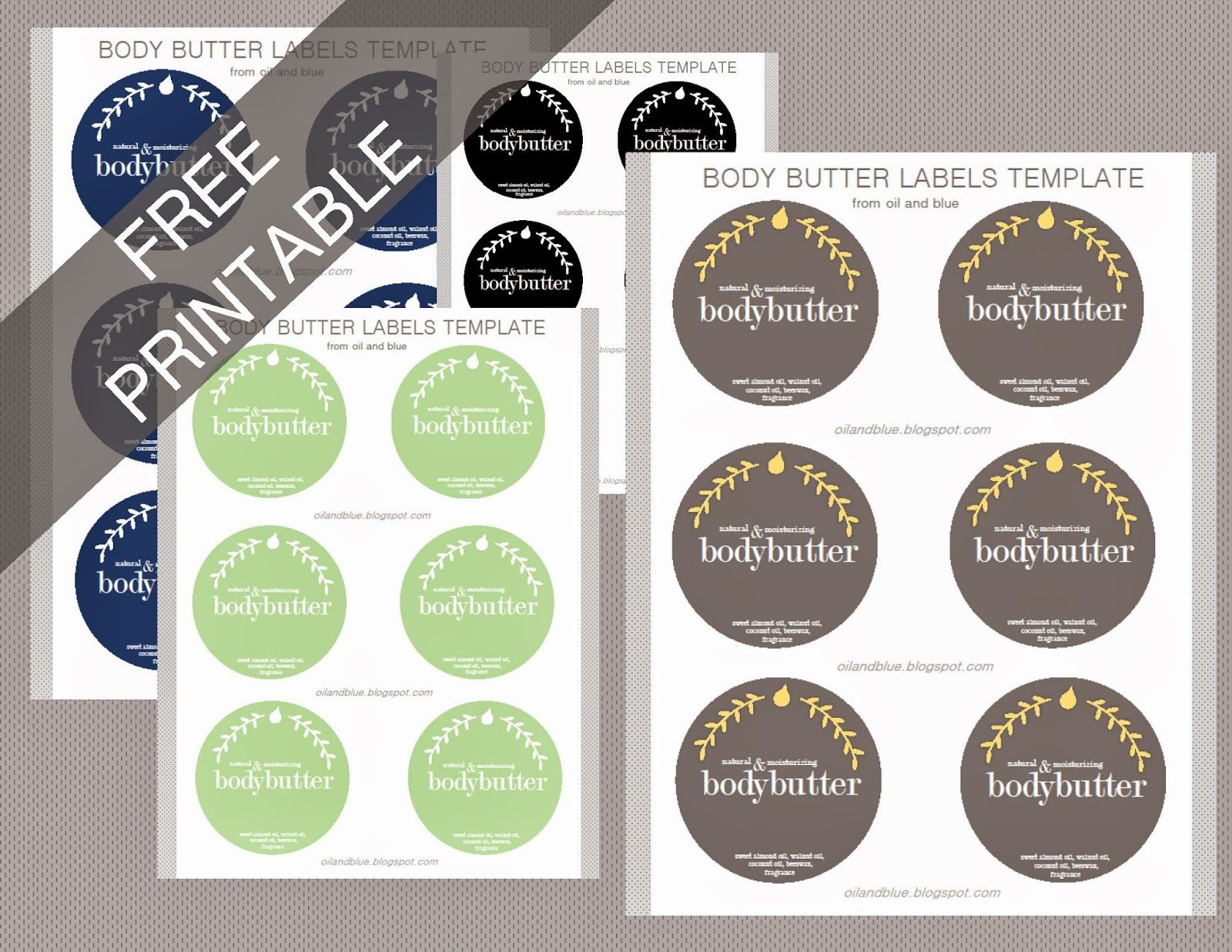 Free Printable Labels For Diy Perfumed Body Butter You