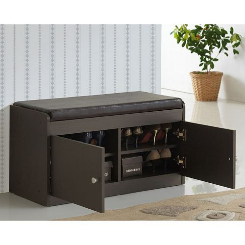 Baxton Studio Margaret Shoe Cabinet Bench Bench With Shoe