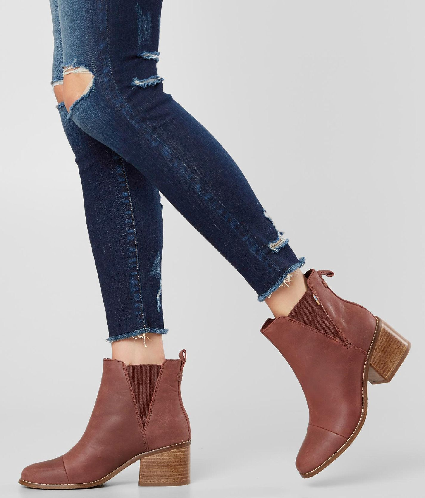 924d2d59fc97f TOMS Esme Ankle Boot - Women s Shoes in Burnt Henna Leather
