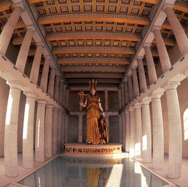 Interior Of Parthenon 3d Reconstruction Eswteriko Par8enwna