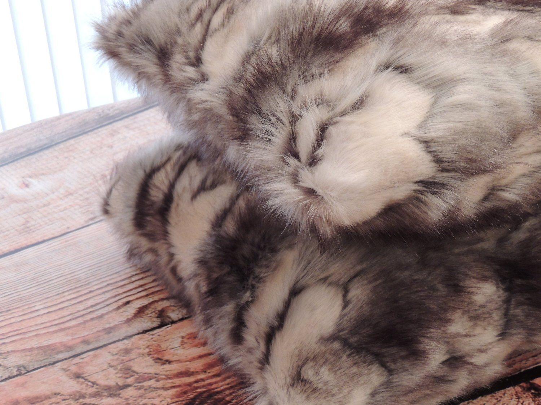 Amazon.com - Brandy Fox Silver Faux Fur 18 X 18 in. Decorative Pillow - Set of 2