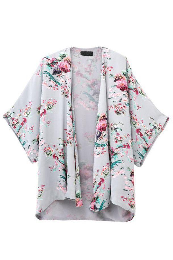 Goodnight Macaroon - Pastel Floral Kimono Jacket | Kimonos ...