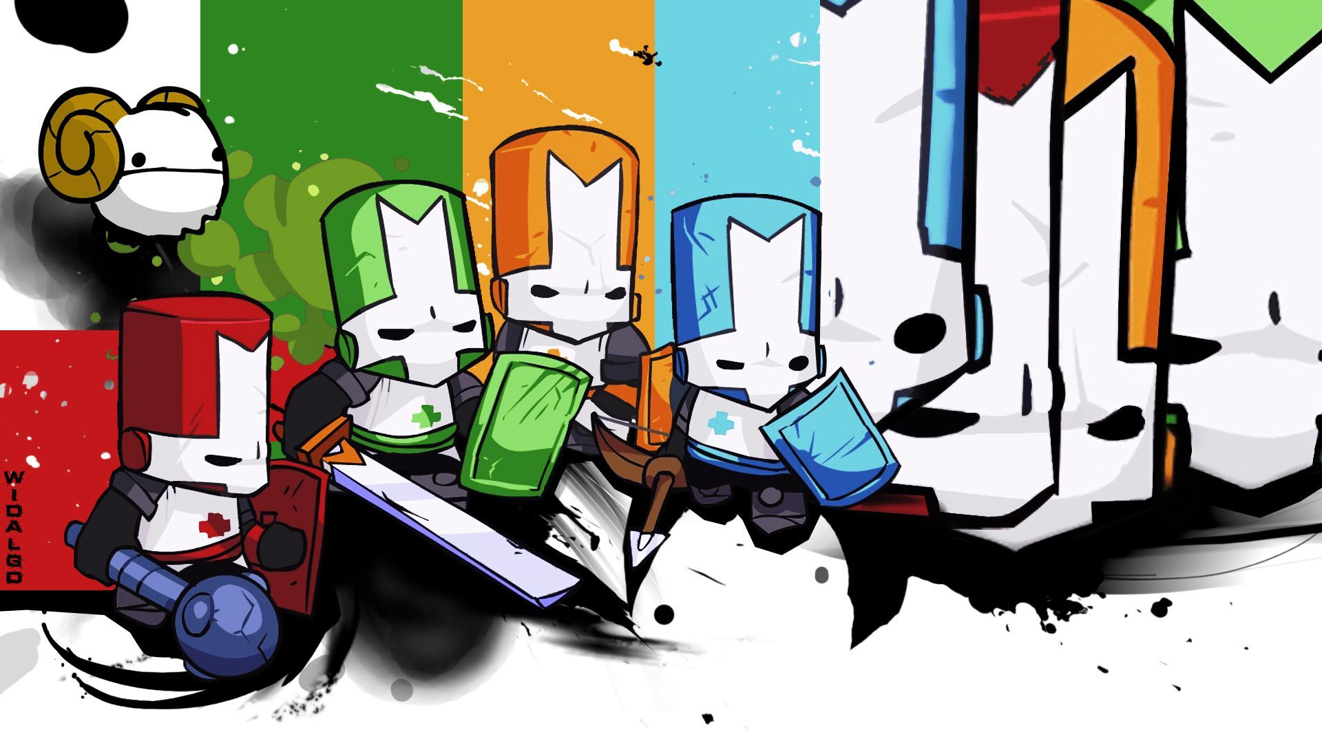 Castle Crashers Wallpapers Wallpaper Cave Castle Crashers Video Game Tattoo Castle