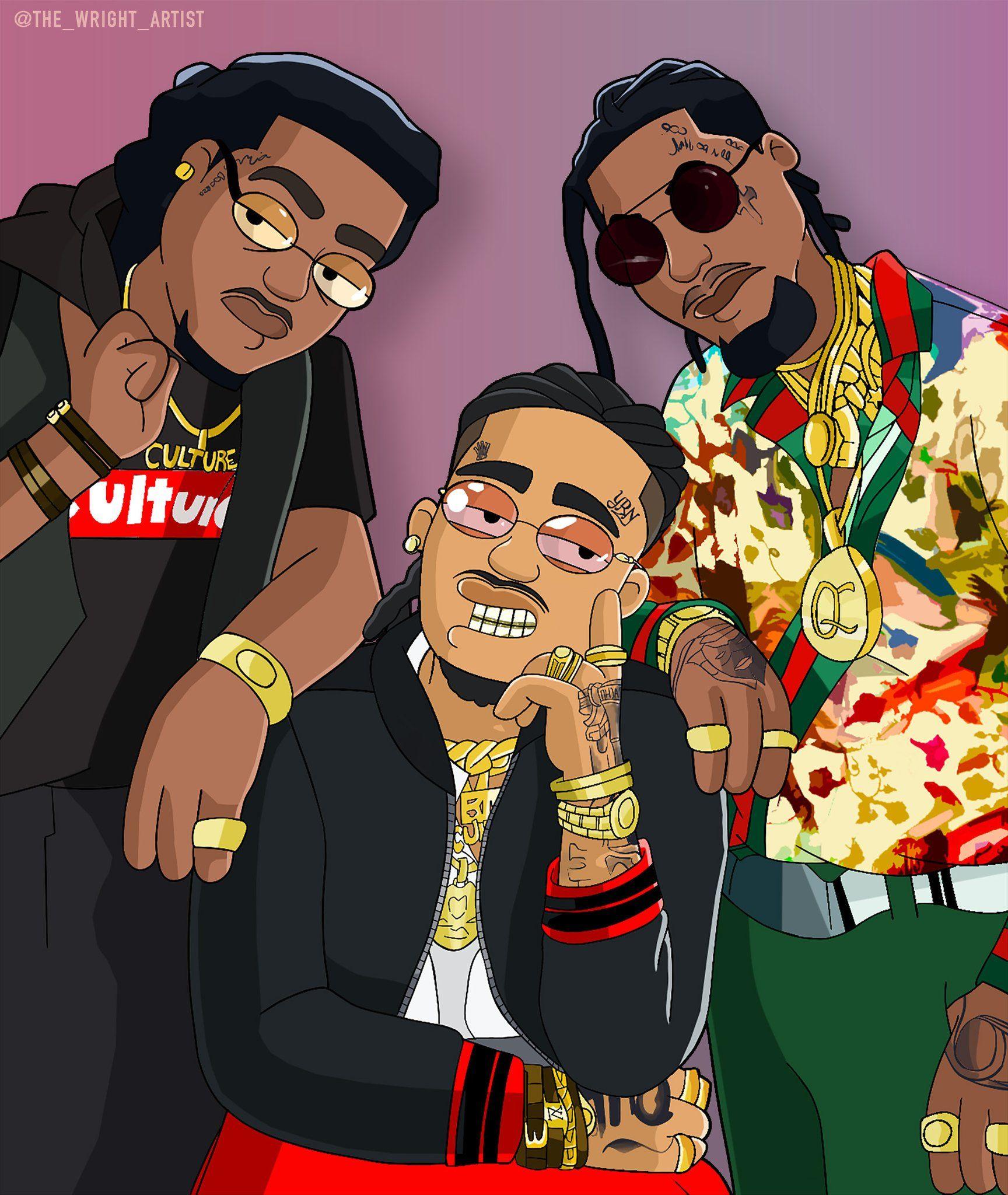 Migos X Family Guy in 2020 Hip hop art, Migos, Rapper art