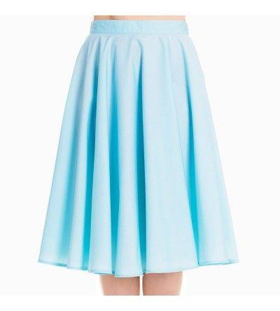 87fc3e5a5e Special Order] Hell Bunny Paula 50s Skirt - Aqua   Clear Classics ...
