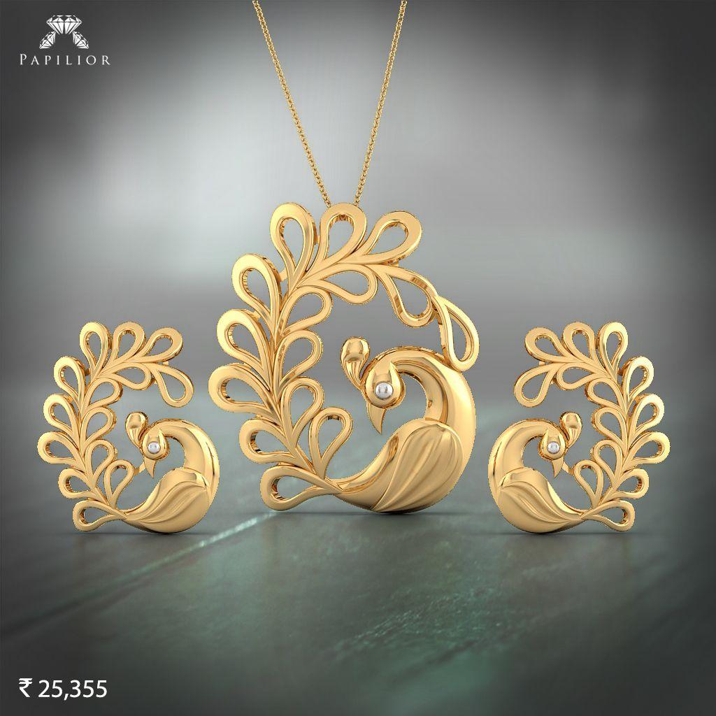 Buy pekham gold pendent set at best price in jewellery