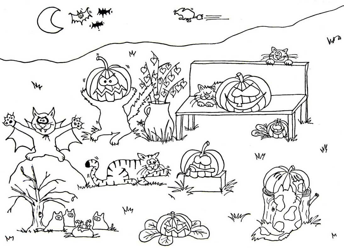 Halloween Ausmalbilder Zum Ausdrucken : Gruselige Halloween Ausmalbilder Zum Ausdrucken 09 Ausmalbilder