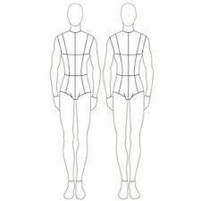 Male Croquis Front And Back Fashion Figures Croquis Clothes Design