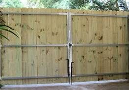 8 Foot Privacy Fence With Double Gate Bing Images Wrought Iron Driveway Gates Diy Driveway Driveway Gate