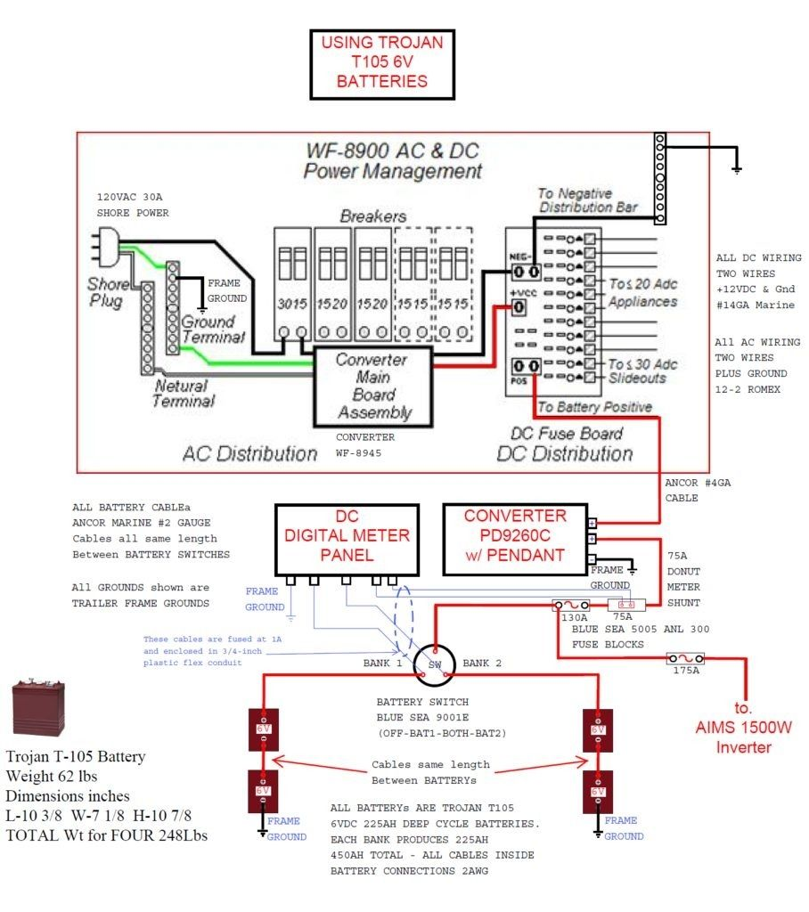 Battery Wire Diagram Circuit Wiring Will Be A Thing Symbols Connectors Camper Trailer Wiringdiagram Org Rh Pinterest Com Series