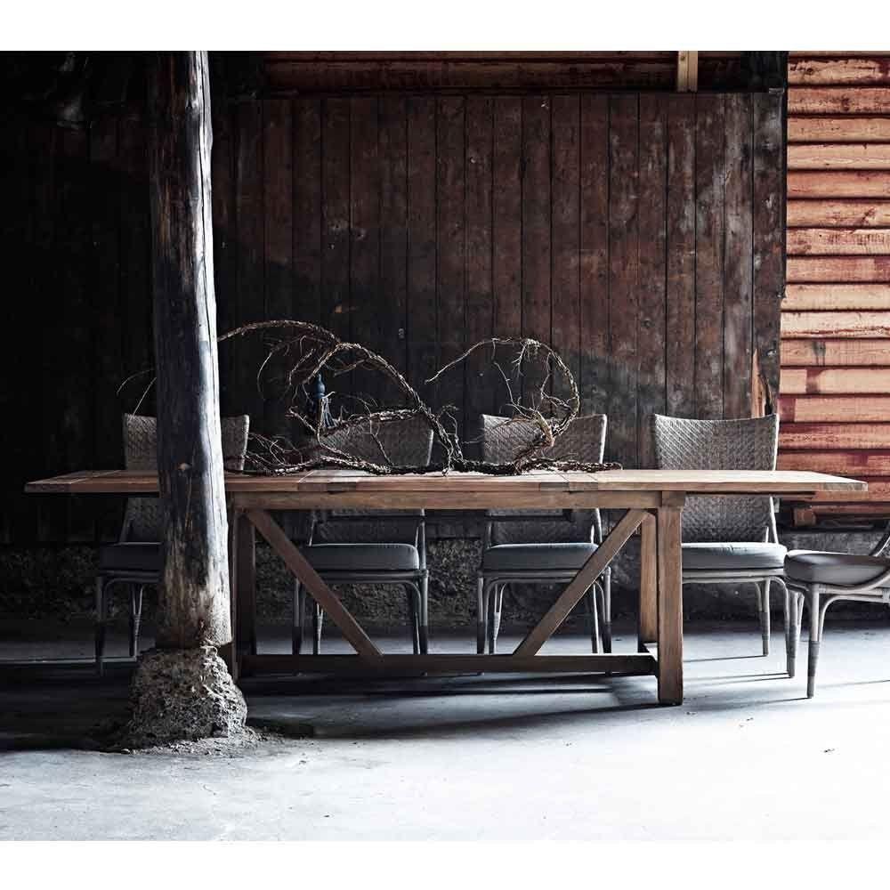 Ausziehbarer Gartentisch Chambord Teak Ausziehbarer