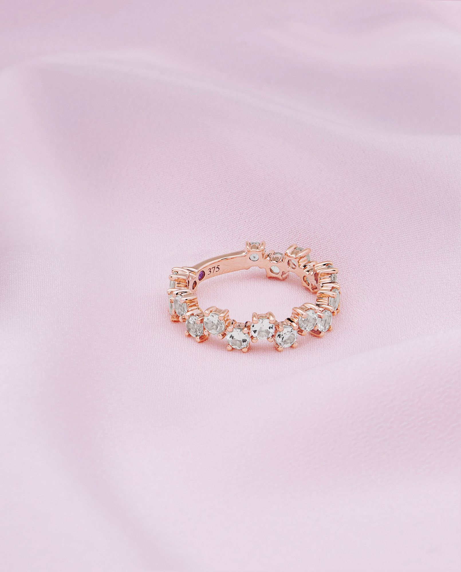 Ted Baker 9ct rose gold and morganite shuffle ring Pink | Bling ...