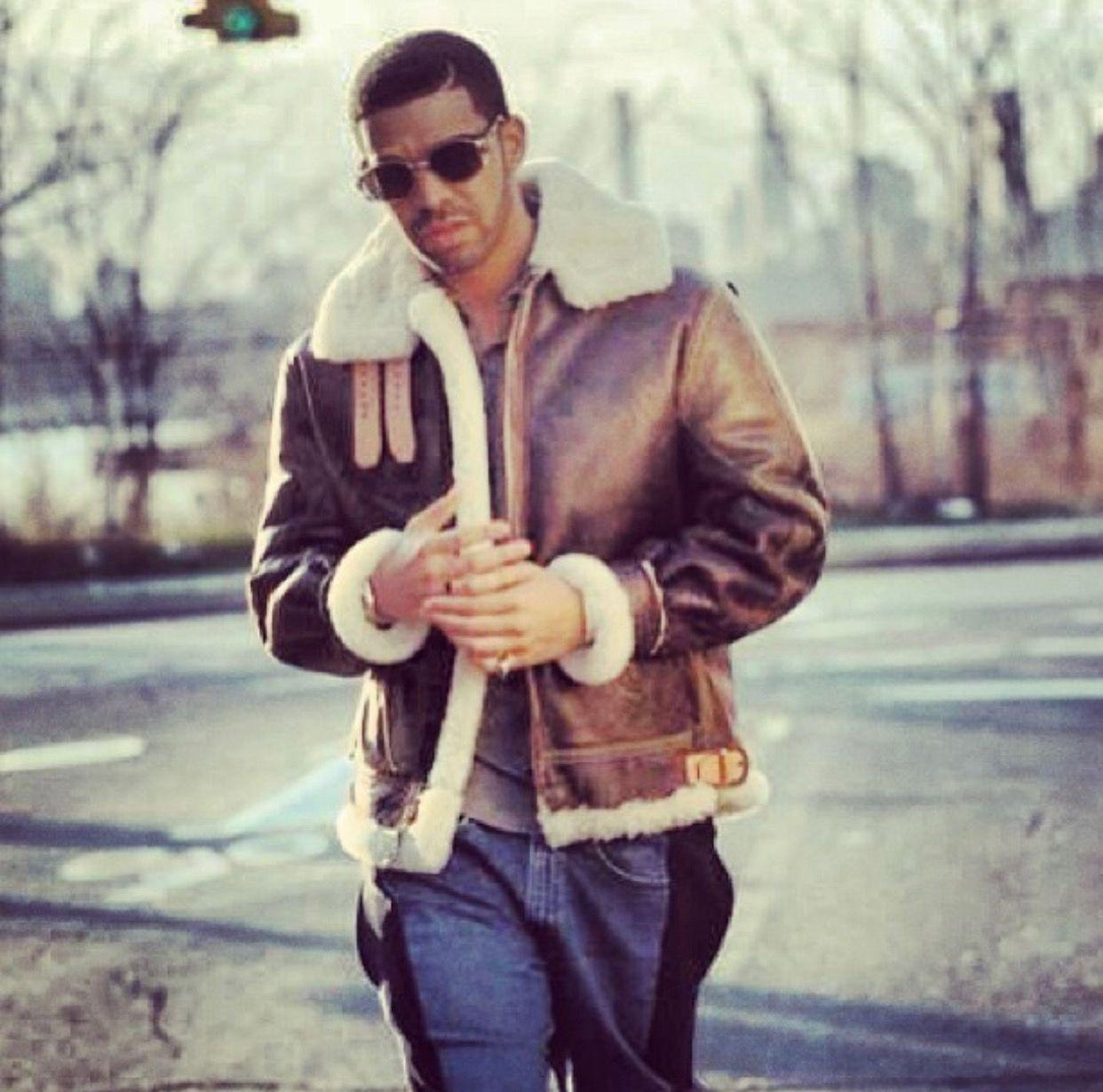 Drake Fur Coat Mens Leather Coats Drake Sheepskin Jacket [ 1230 x 1242 Pixel ]