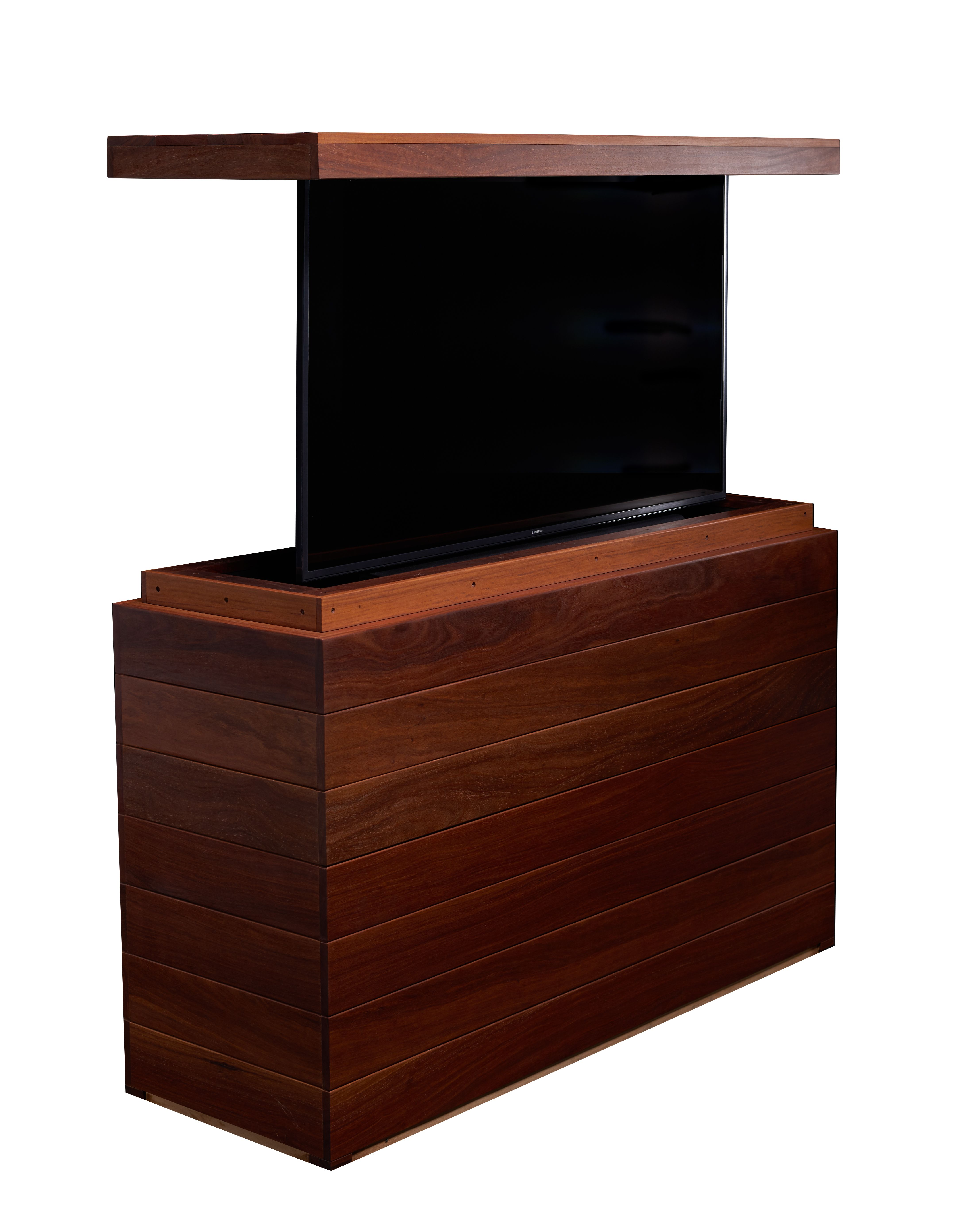 Cabinet Tronix Cumaru Wood Furniture Hides And Protects Tv Outside In The Back Yard Weatherproof Design Ma Outdoor Tv Cabinet Tv Lift Cabinet Hot Tub Outdoor