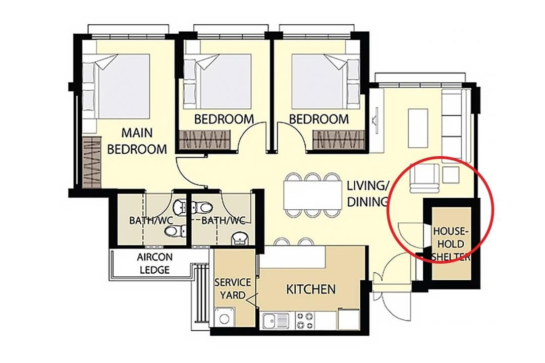 Ideas For Common 3 4 5 Room Bto Layouts With Examples Floor Plan Layout Kitchen Layout Plans Layout
