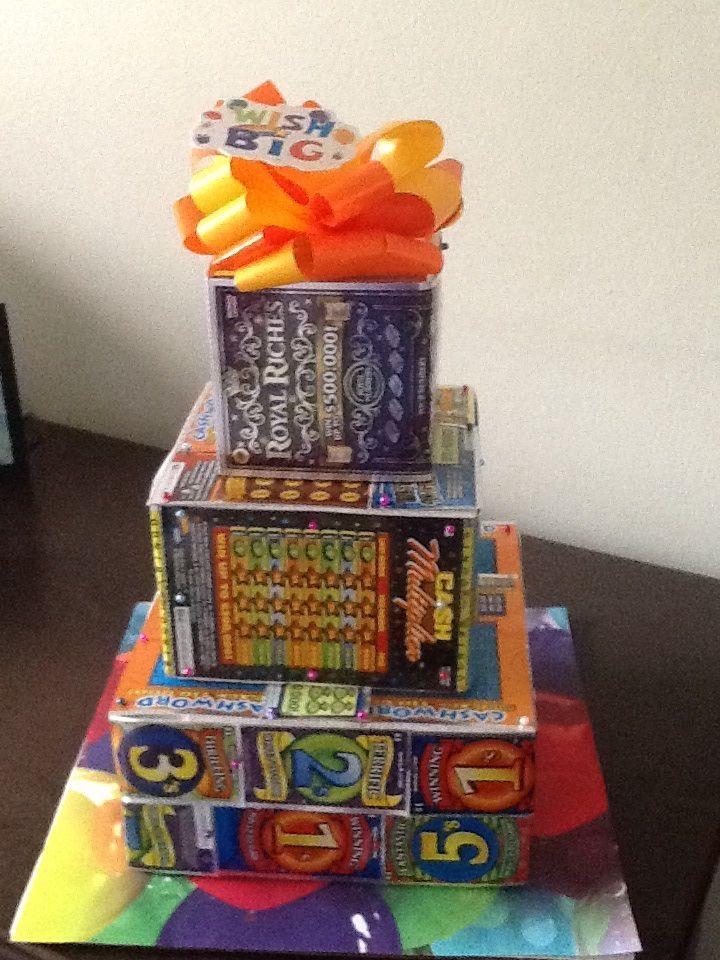Lottery ticket cake lottery ticket gift raffle baskets