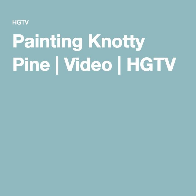 Painting Knotty Pine Cabinets: Painting Knotty Pine