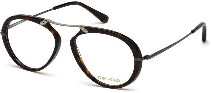 e09df7ca56296 TOM FORD Round Brow-Bar Optical Frames