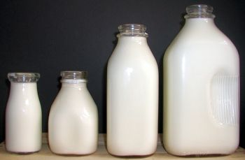 Glass Milk Bottles In Various Sizes You Can Buy In Small Quantities But Shipping Is A Little Pricey Milk Bottle Glass Milk Bottles Vintage Milk Bottles