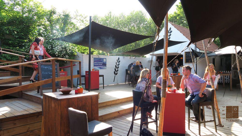 Terrasse En Bois Sapin Rouge Du Nord Autoclave Brun Pose Traditionnelle Vissee Sur Vis De Fondation Krinner Www Cote Te Terrasse Bois Parasols Sapin Rouge