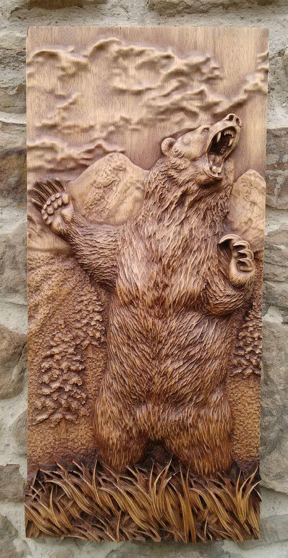 Animal tallada la decoración de pared salón rústico