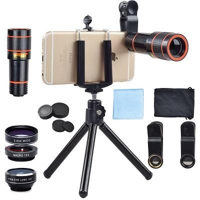 Smartphone 12X Zoom Telescope + 3 in 1 Fisheye Wide