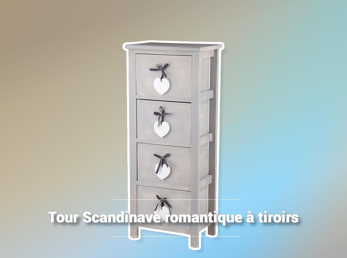 Tour Scandinave Romantique A Tiroirs La Foir Fouille Coiffeuses Deco Scandinave Meuble
