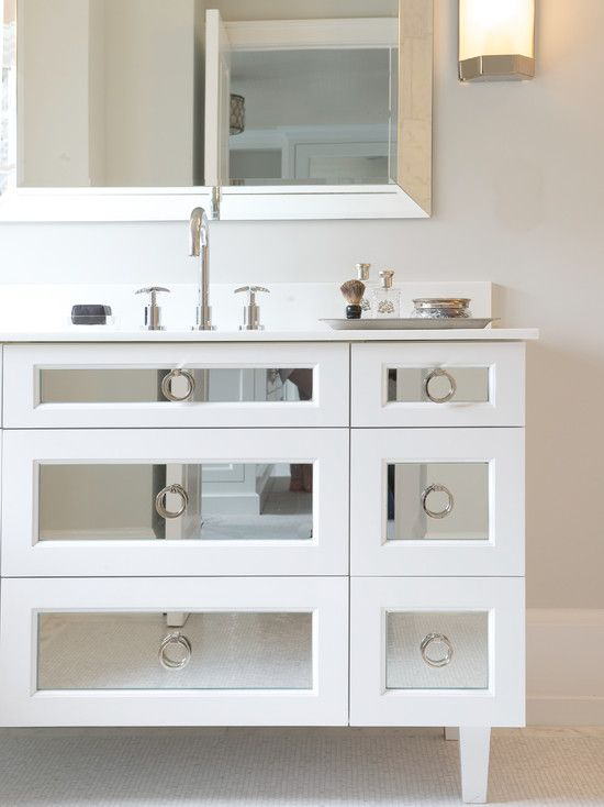 17 Best Images About Mirrored Vanity On Pinterest