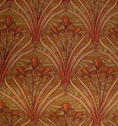 7 Yards French Art Nouveau Irises Woven Tapestry Upholstery Or Heavy