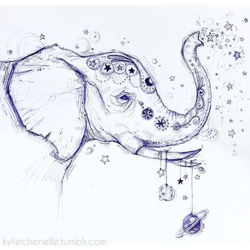 Kyliechenelle Elephant Tattoos Elephant Drawing Elephant Tattoo Design