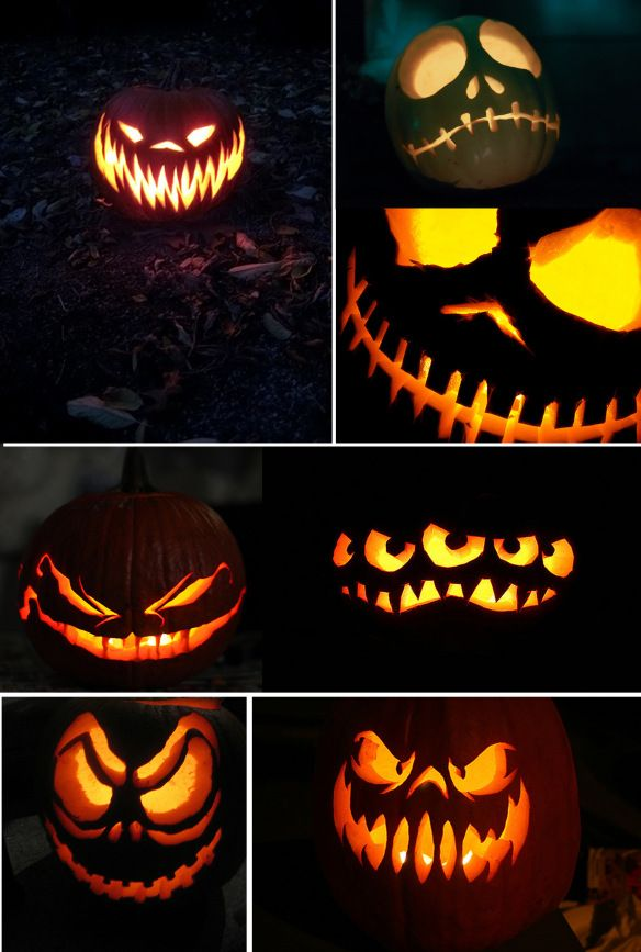 here are some fun and spooky jack o lanterns to help you celebrate halloween