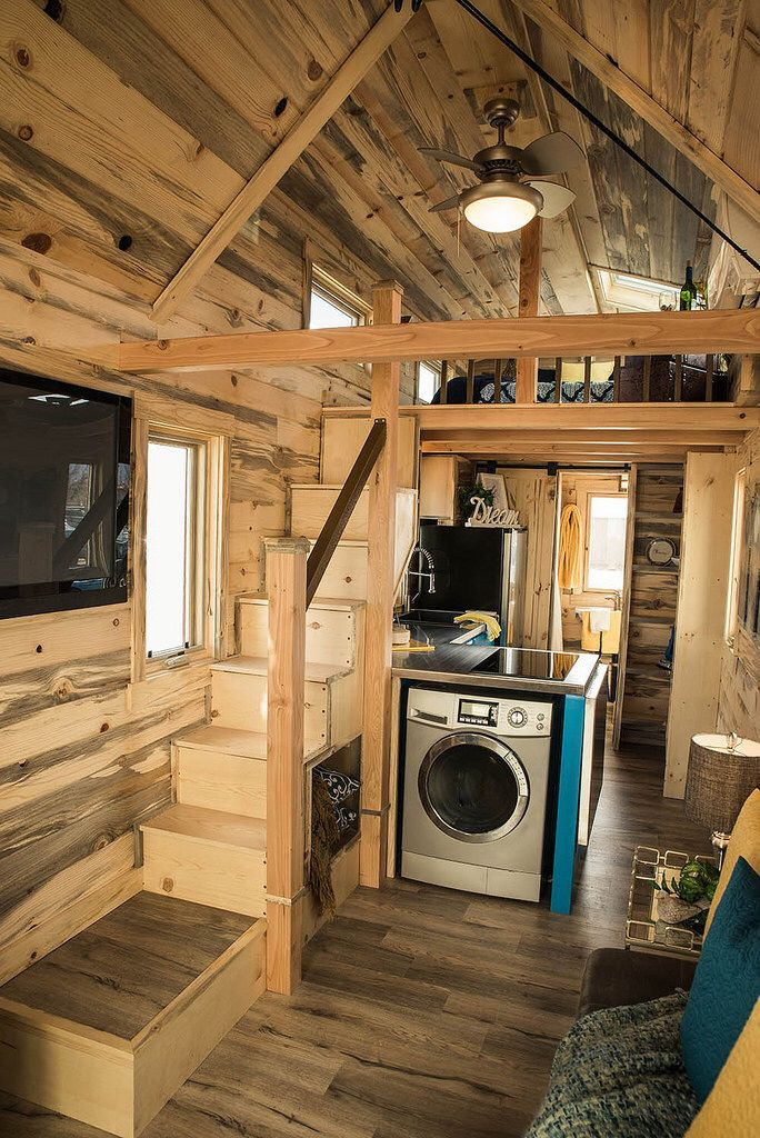 Tumbleweed Tiny House Elm with Beetle Kill Interior Tiny house