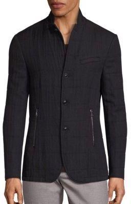 John Varvatos Slim-Fit Filled Virgin Wool Blend Jacket