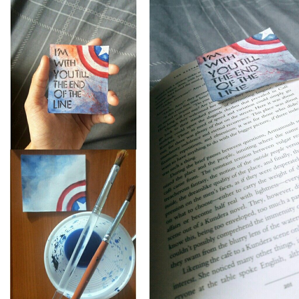captain america bookmark. #diy#bookmark#quote #captainamerica#bucky