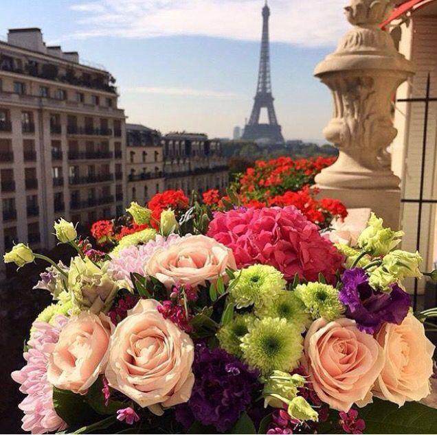 Открытка с днем рождения в париже