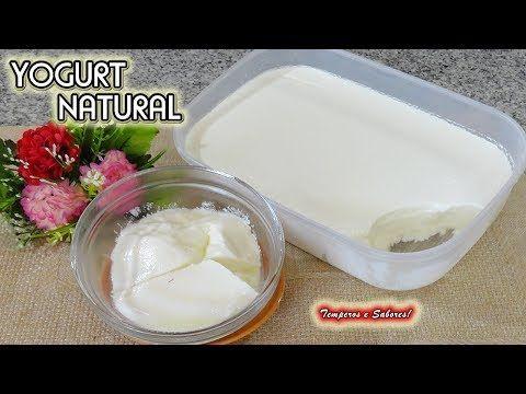 Yogurt Natural Con Sólo 2 Ingredientes Saludable Y Súper Fácil Youtube Yogur Casero Yogurt Casero Yogurt