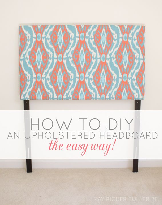 diy upholstered twin headboards the easy way upholstered headboards pinterest twins. Black Bedroom Furniture Sets. Home Design Ideas