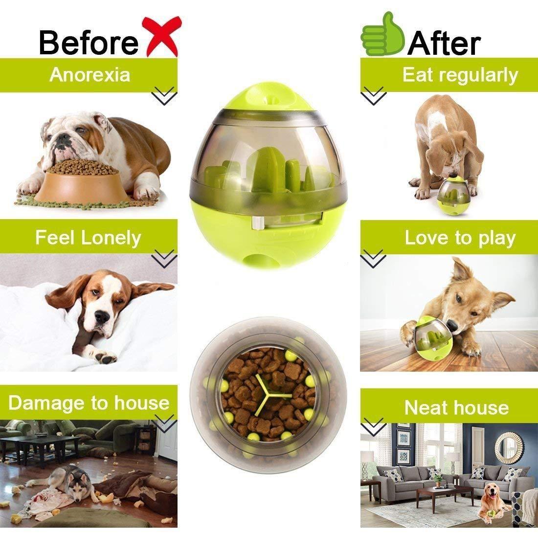 Dog Food Ball Slow Feeder Tumbler Design 2 Colors