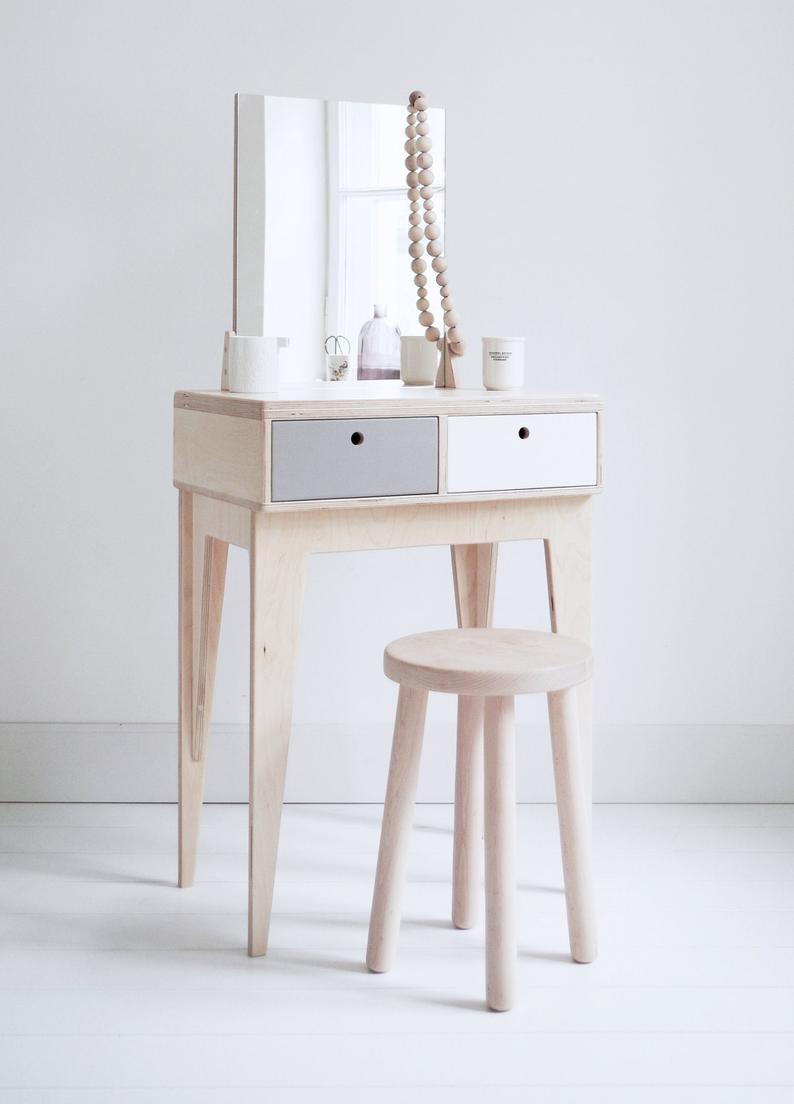 Runo Dressing Table Plywood Handmade Dressing Table Etsy In 2020 Dressing Table Design Furniture Design Furniture