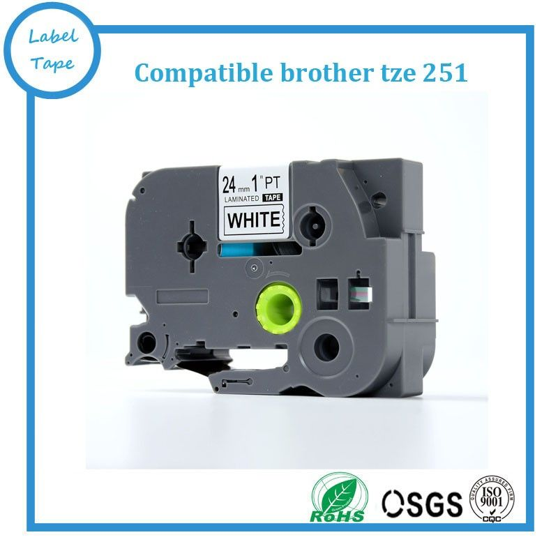 Free shipping Compatible brother tz label tape 24mm tze251 tz 251 - free shipping label maker