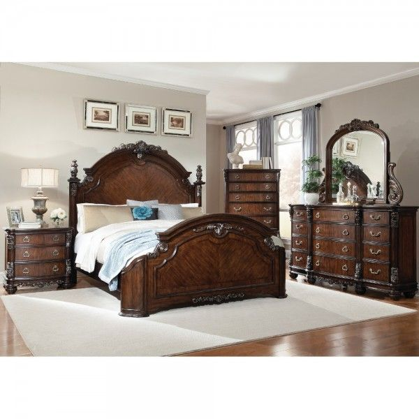 south hampton bedroom - bed, dresser & mirror - king - 99515