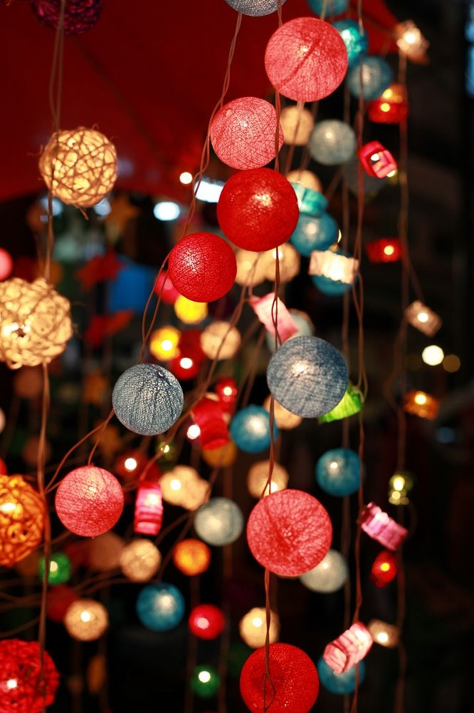 10 Ways to Decorate with String Lights, before Christmas #lights